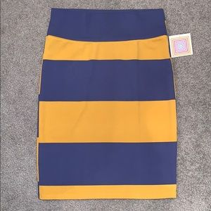 🆕 Lularoe Cassie Pencil Skirt Stripe XL